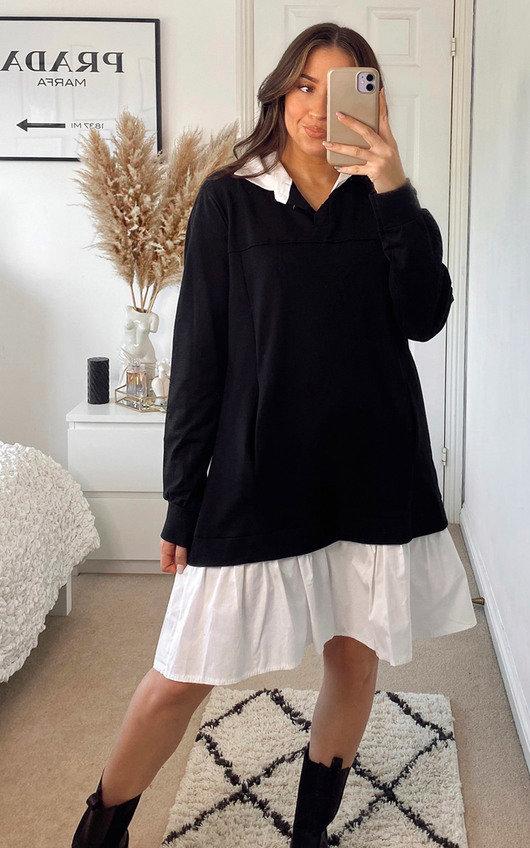 Marie 2 in 1 Jumper Shirt Dress