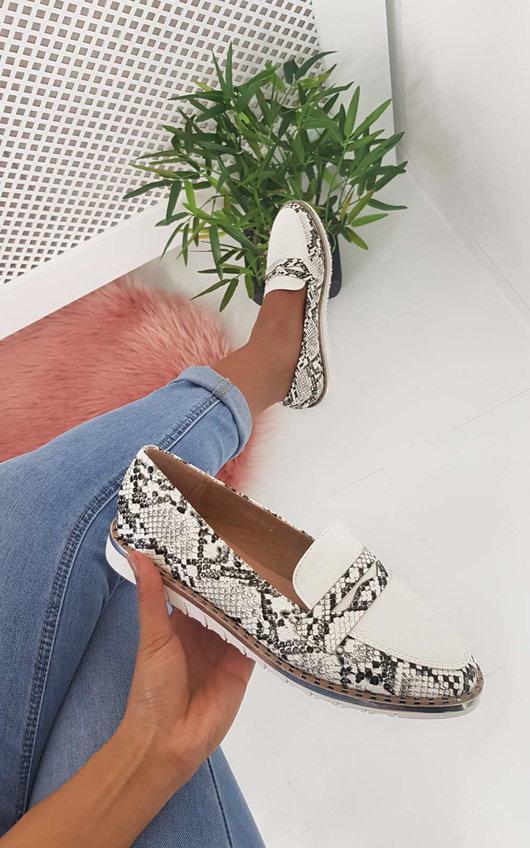 Mariya Faux Snake Skin Pump Sandal