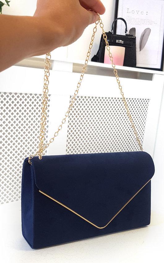 Marley Faux Suede Envelope Clutch Bag
