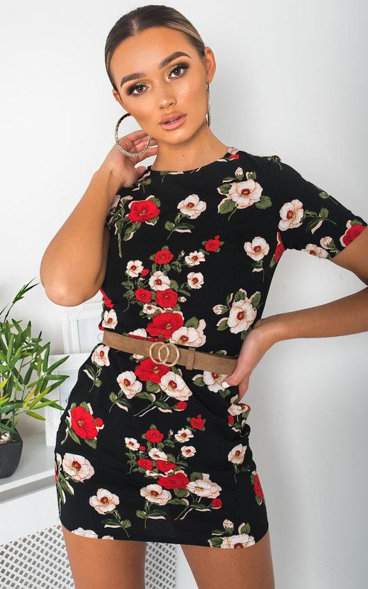 Marrianne Floral Print Mini Dress