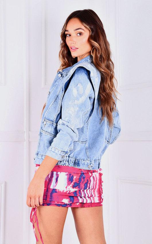 Martina Embellished Denim Jacket