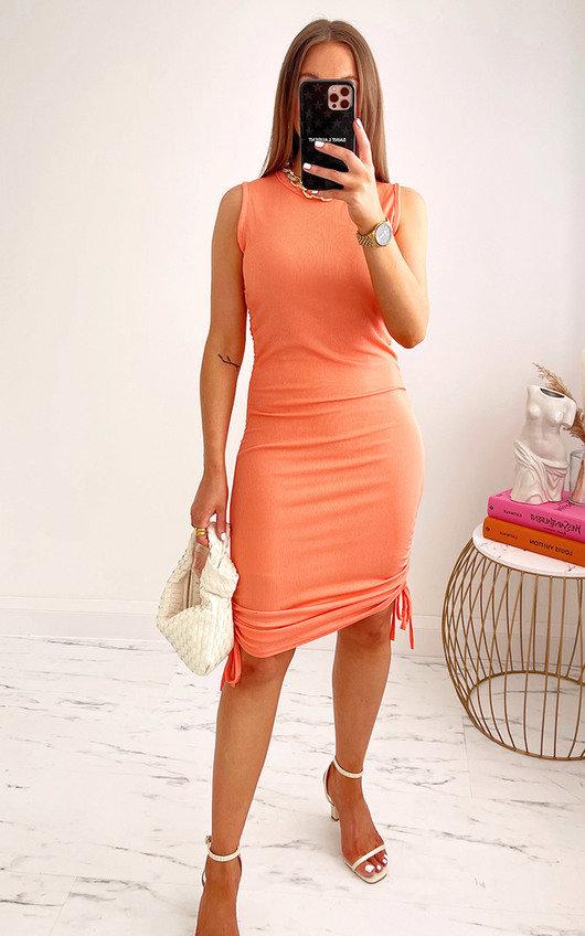 Martina Ruched Side Mini Dress