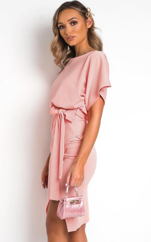 Mary Batwing Split Midi Dress