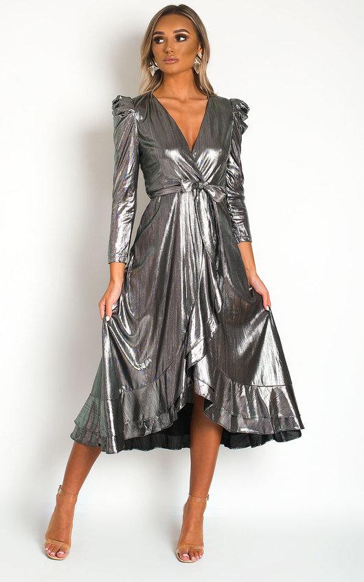 Mary Metallic Maxi Dress