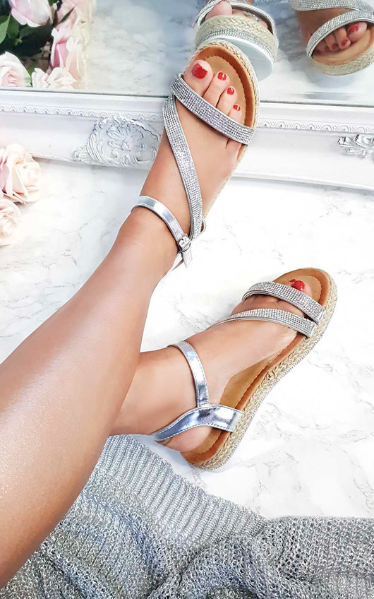 Matilda Diamante Flatform Sandals