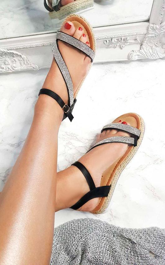 Matilda Diamante Flatform Sandals