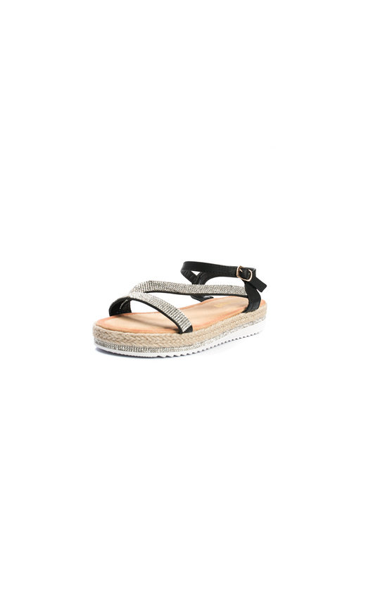 7c39dfa6d66 Matilda Diamante Flatform Sandals in Black