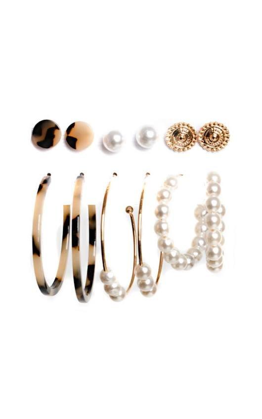 Mav Set of 6 Earrings
