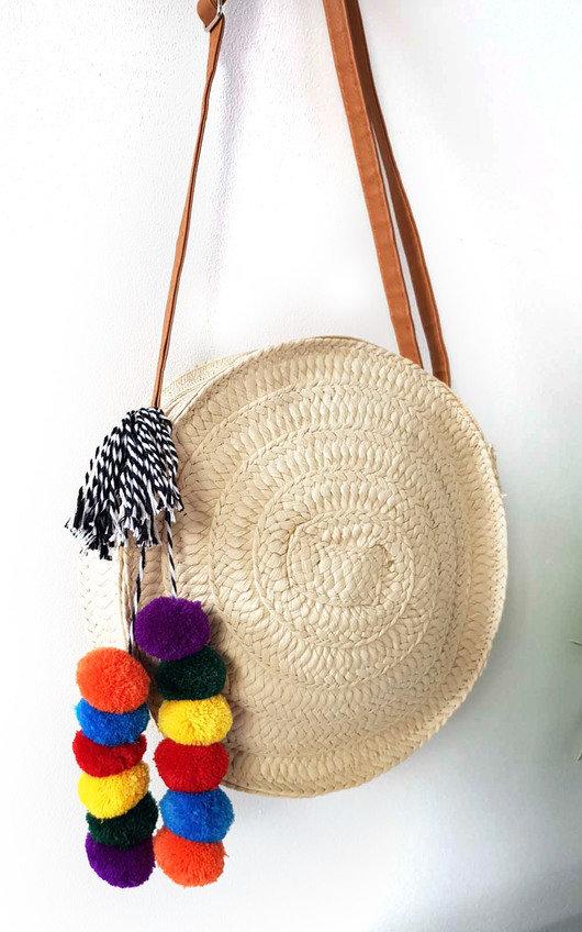 Mav Straw Circle Handbag