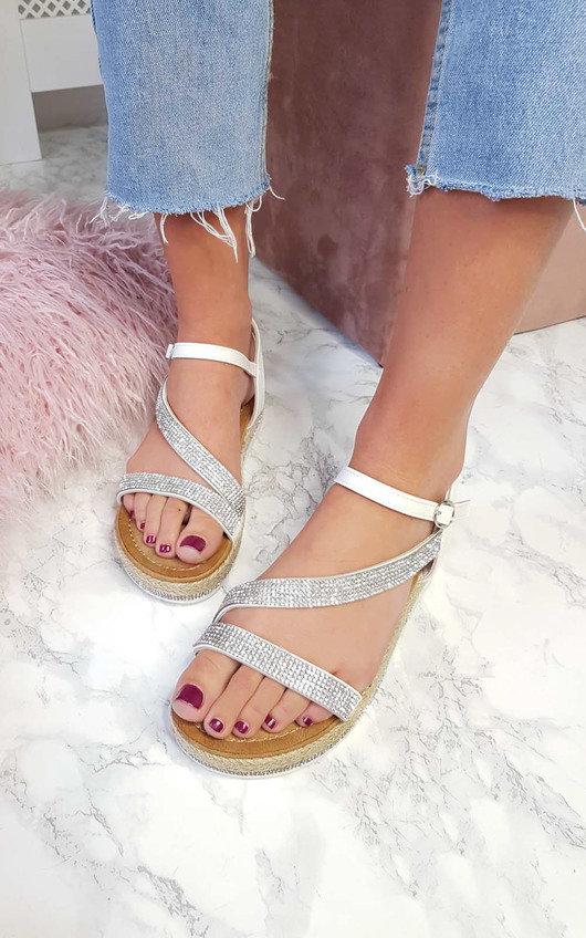 Maylie Diamante Flatform Sandals