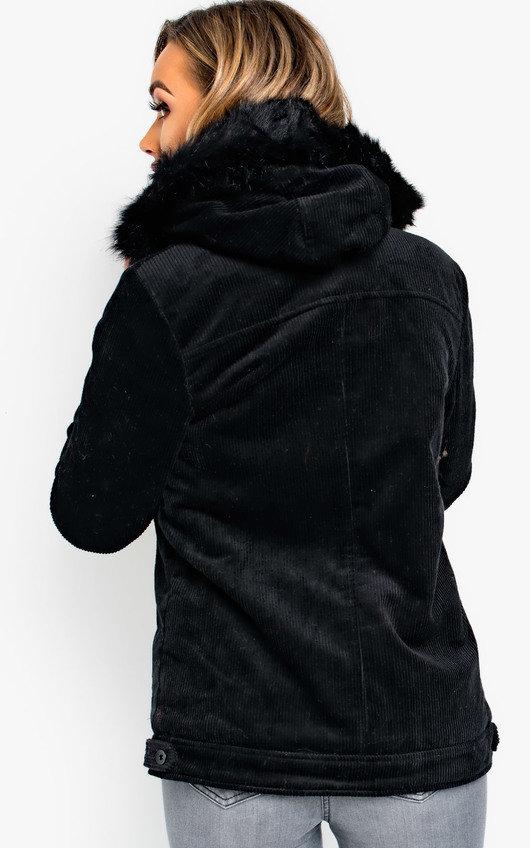 Mayne Faux Fur Hooded Cord Jacket