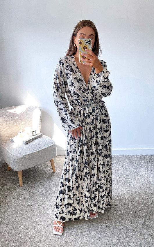 Medinah Pleated Maxi Dress