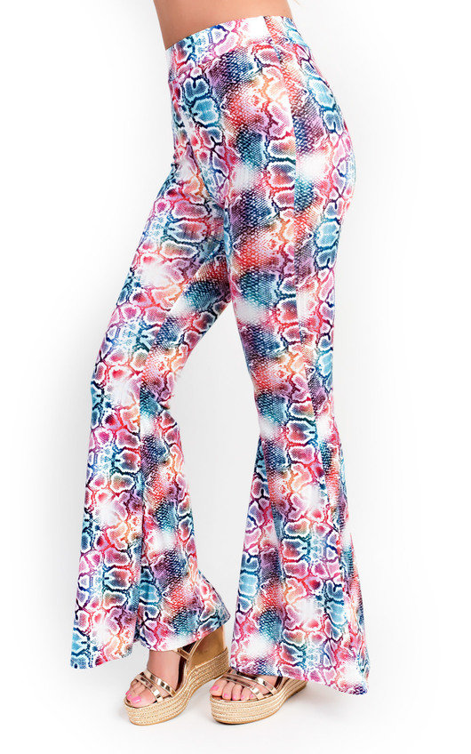 Meg High Waist Printed Flare Trousers