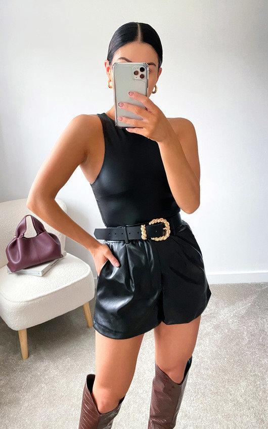 Lauren Faux Leather Bodysuit