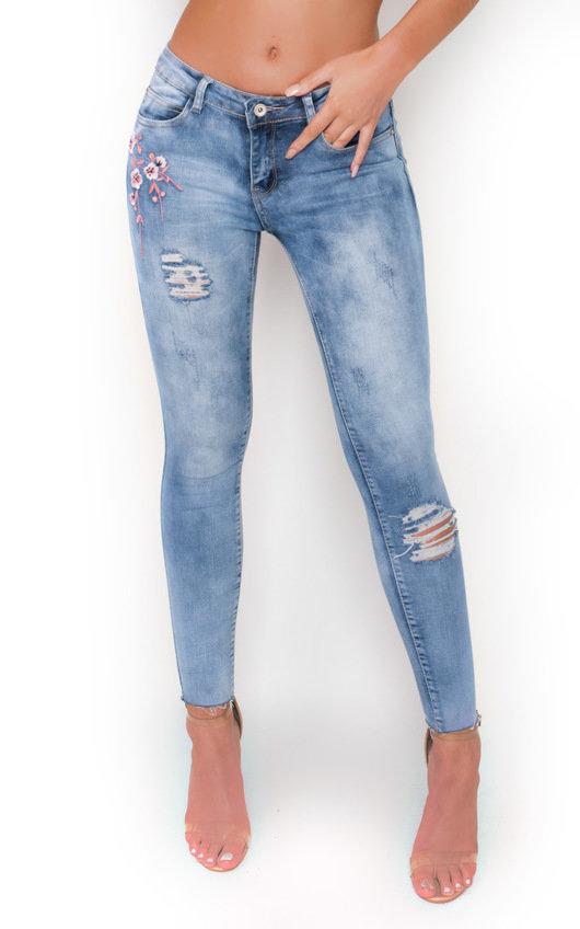 Megz Floral Print Mid Rise Jeans