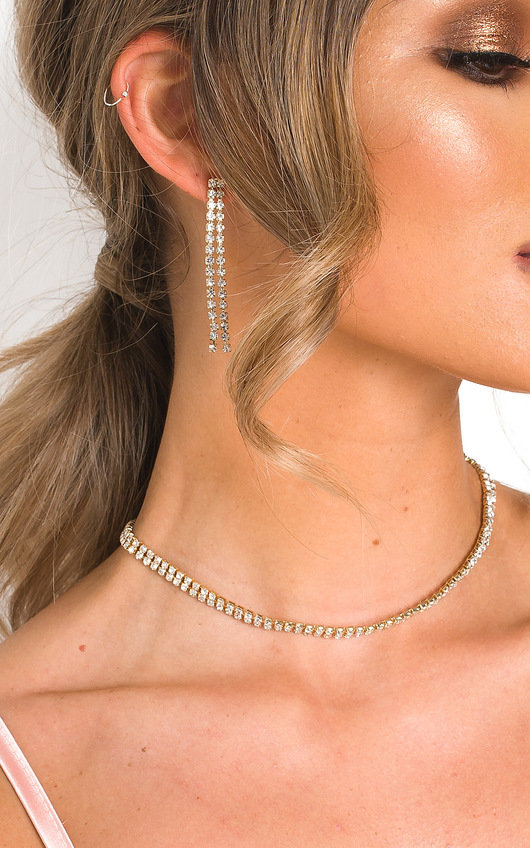 Mel Diamante Necklace and Earrings Set