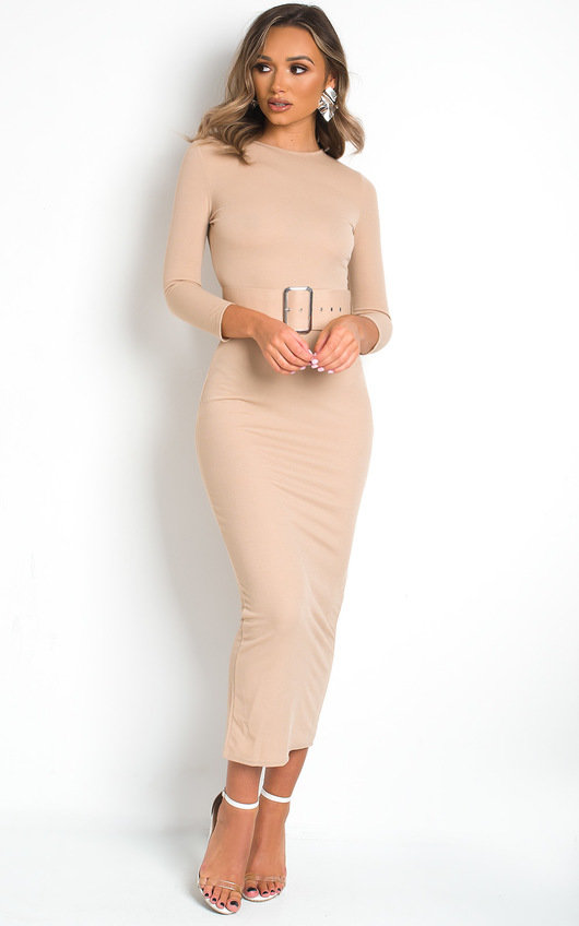 Melia Belted Fitted Maxi Dress