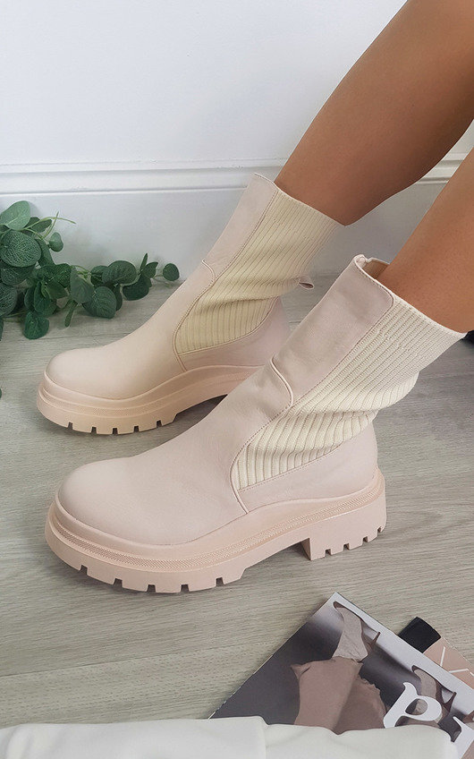Melissa Mid Calf Chunky Sock Boot