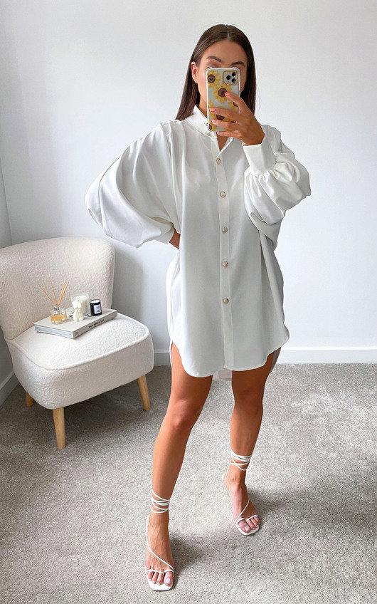 Meredith Puff Sleeve Shirt Dress