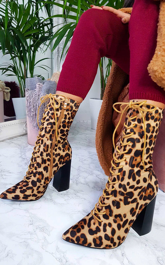 Mhairi Lace Up Heeled Boots