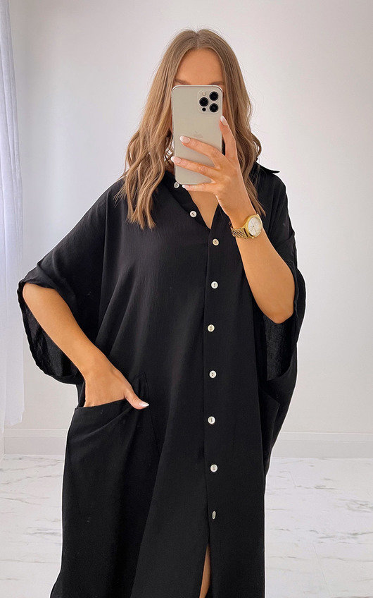 Mia Oversized Maxi Shirt Dress