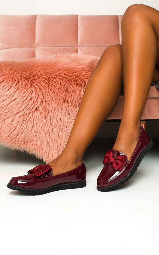 Mia Patent Bow Loafer