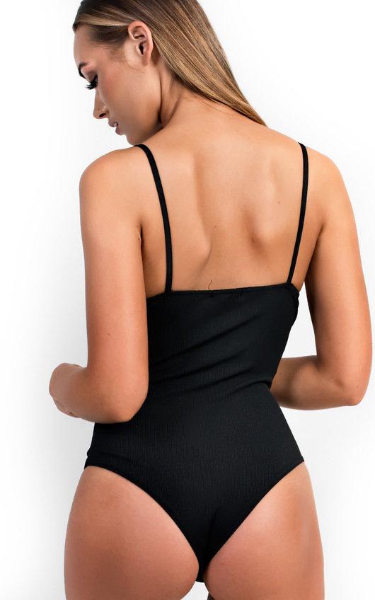 Mia Stripe Zip Front Bodysuit
