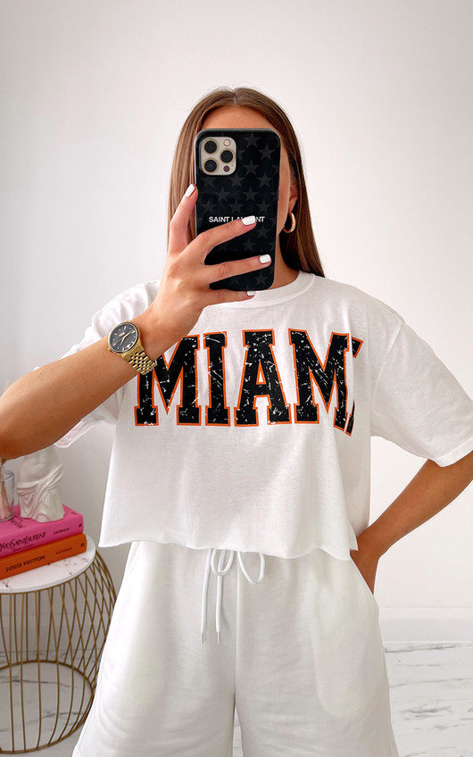 Miami Printed Crop Top