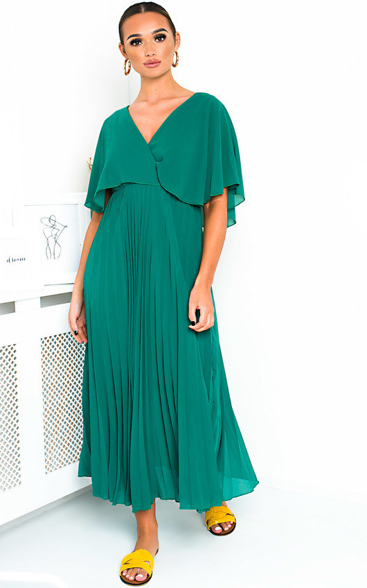 Michaela Pleated Maxi Dress
