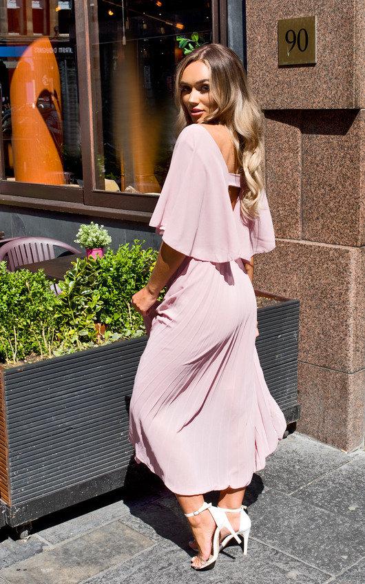 Michaela Pleated Maxi Dress
