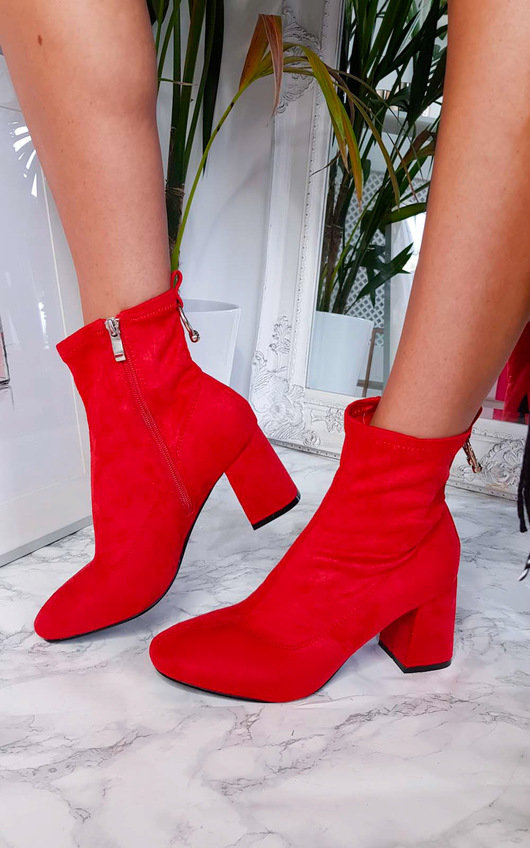 Mika Ring Block Heel Ankle Boots