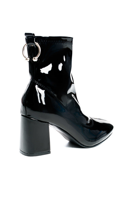8befb79597 Mika Ring Block Heel Ankle Boots in Black p | ikrush
