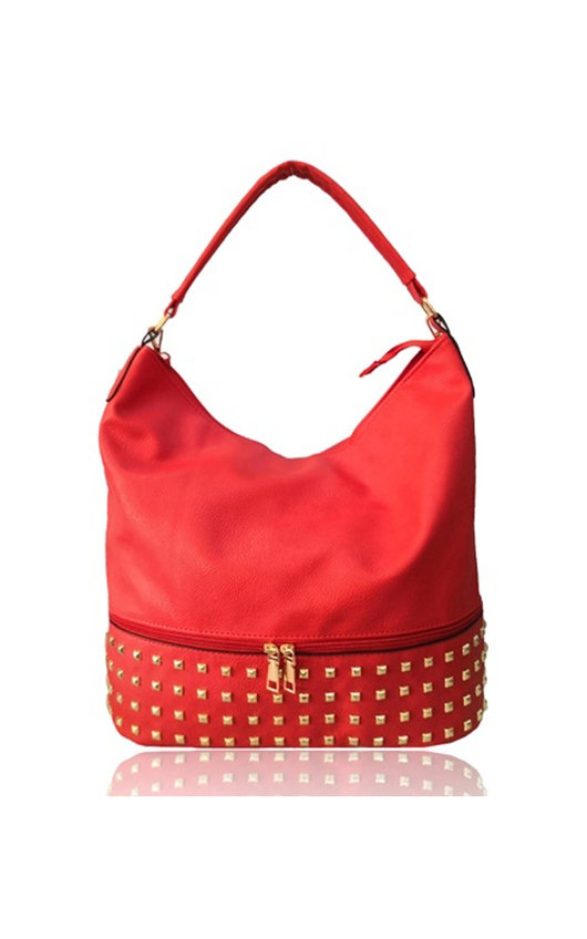 Mika Studded Slouch Bag