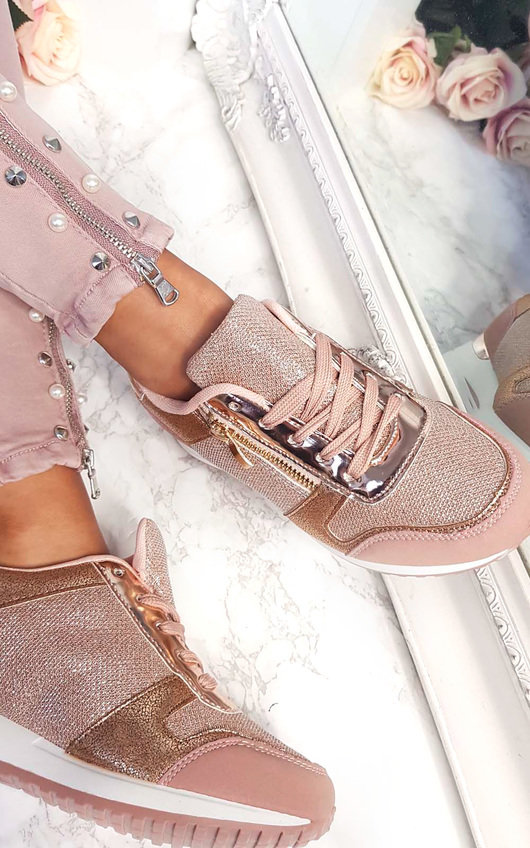 Mila Metallic Two Toned Zip Trainers