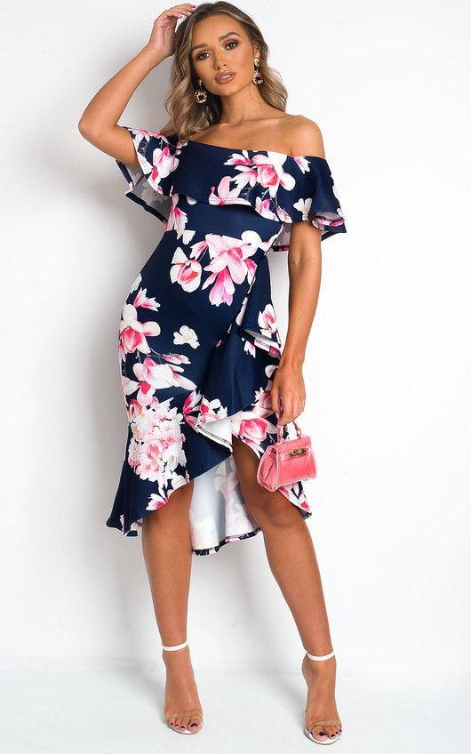 Mildred Wrap Front Midi Dress