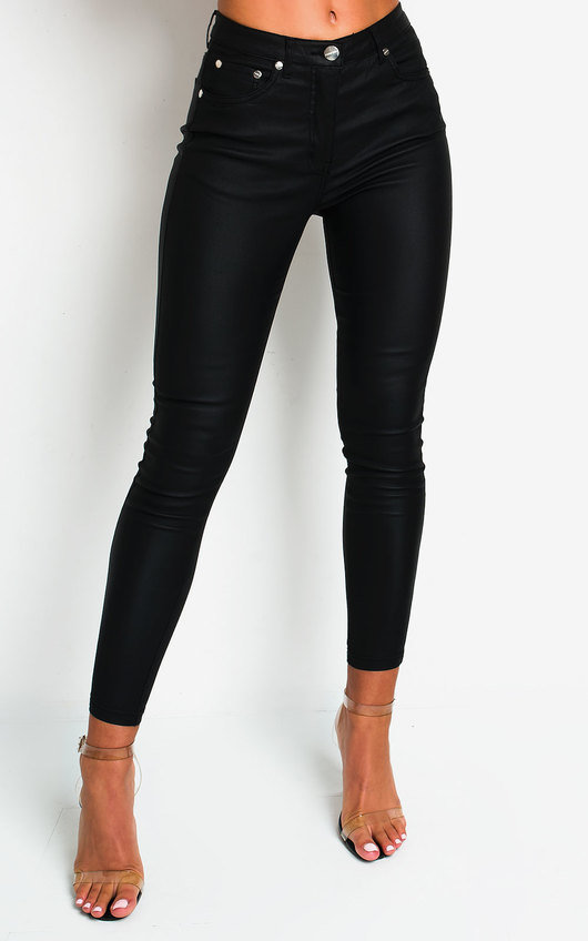 Milla Skinny Coated Jeans