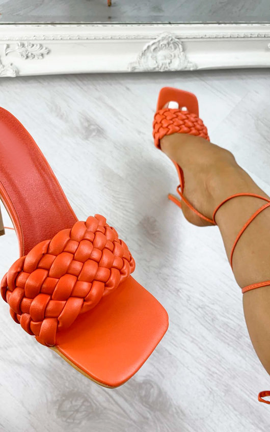 Mills Braided Lace Up High Heels