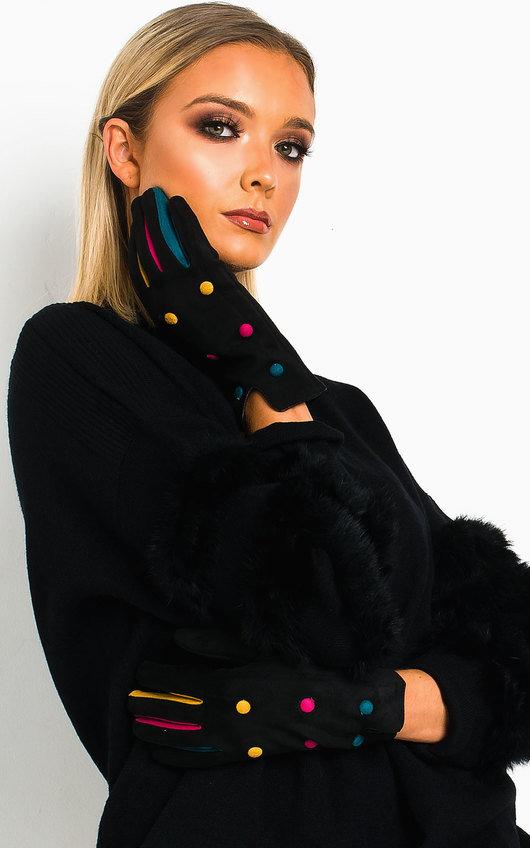 Mimi Multi Colour Button Gloves