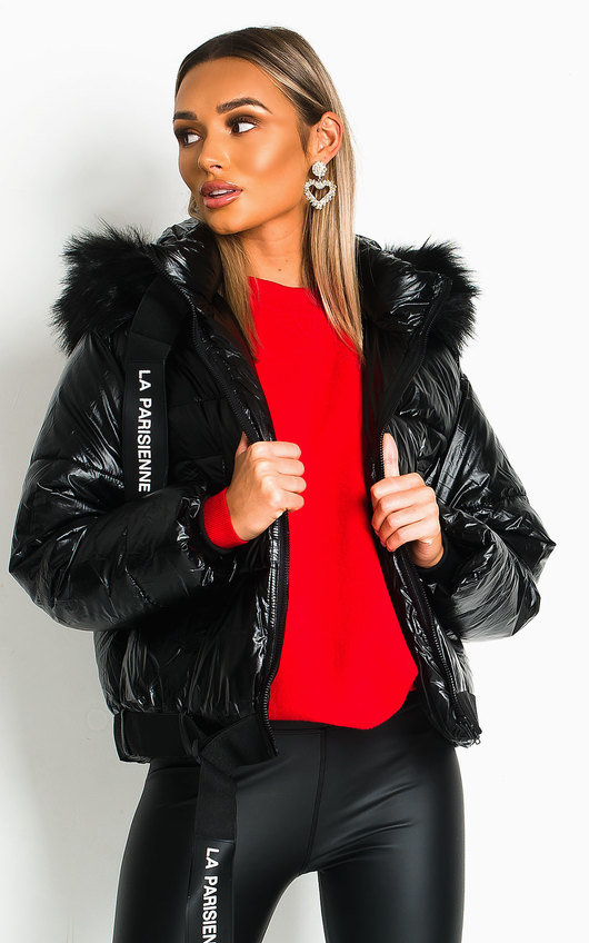 Mina Padded Faux Fur Hood Puffer Jacket
