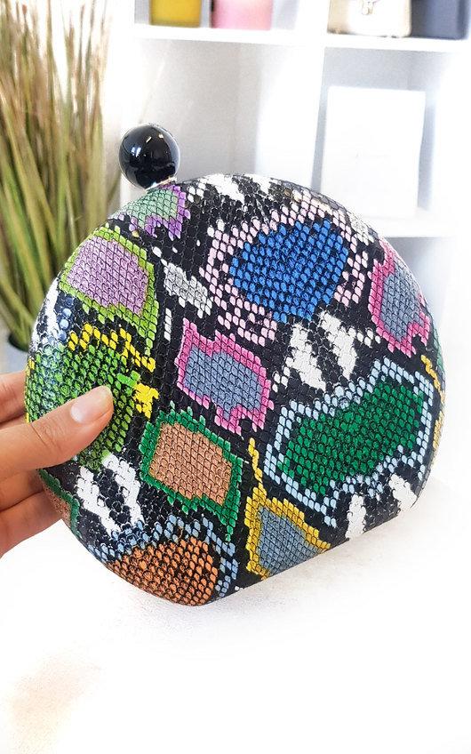 Minnie Printed Cricle Clutch Bag
