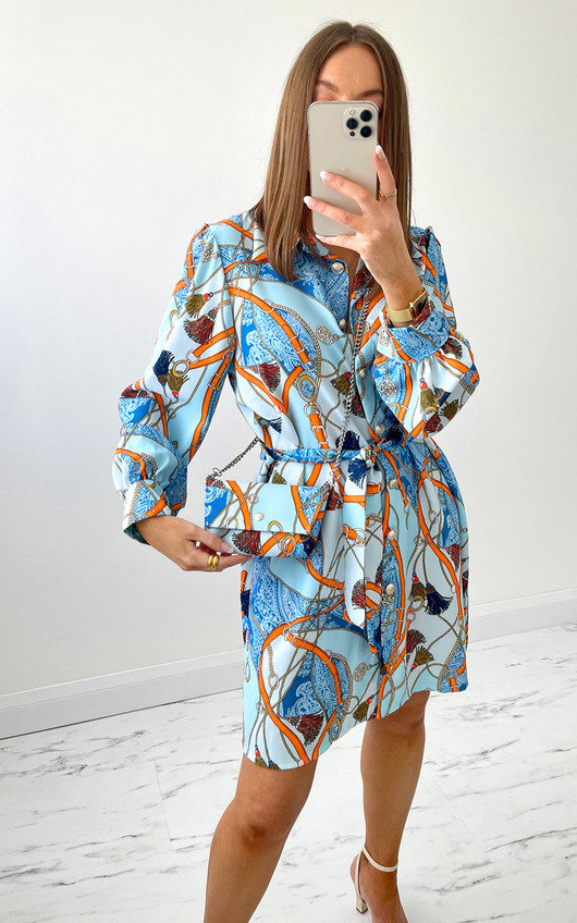 Minnie Printed Shirt Dress