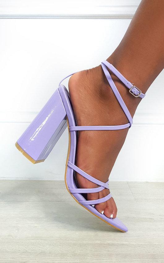 Minnie Strappy Block High Heels