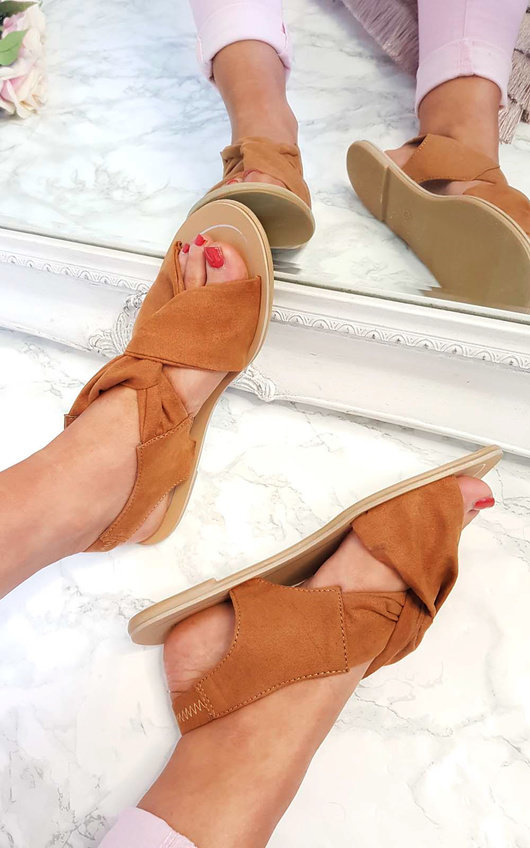 Misti Wrap Crossover Sandals