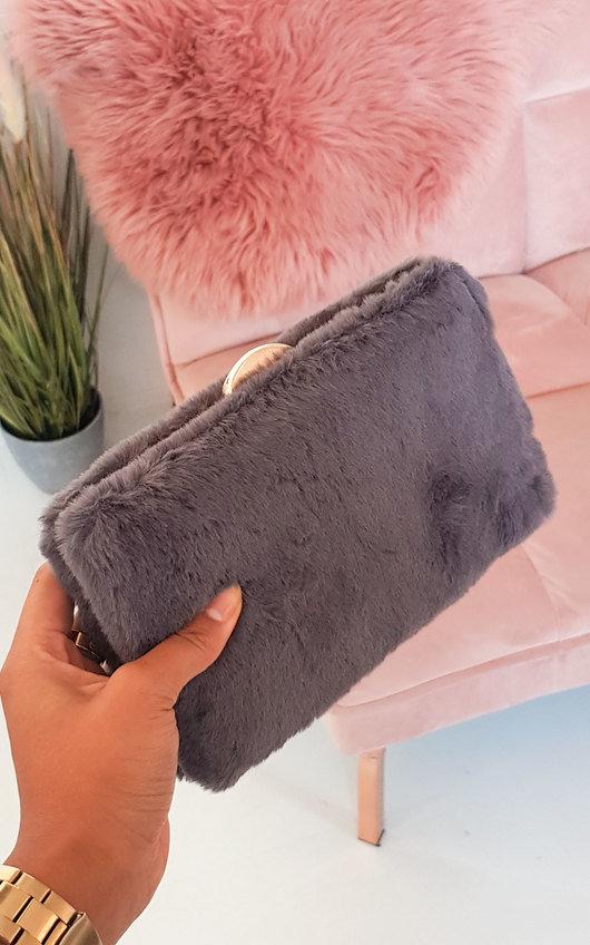 Misty Faux Fur Clutch Bag