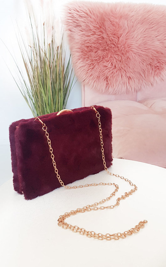 Misty Faux Fur Clutch Bag