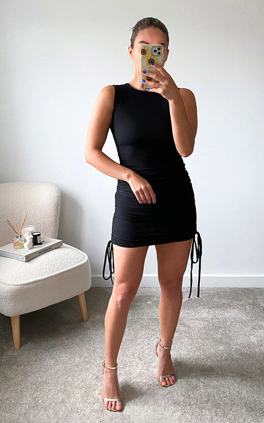Misty Ruched Side Sleeveless Mini Dress