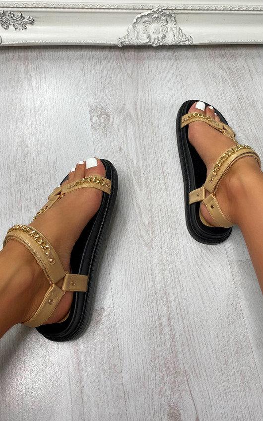 Misty Strappy Velcro Sandals
