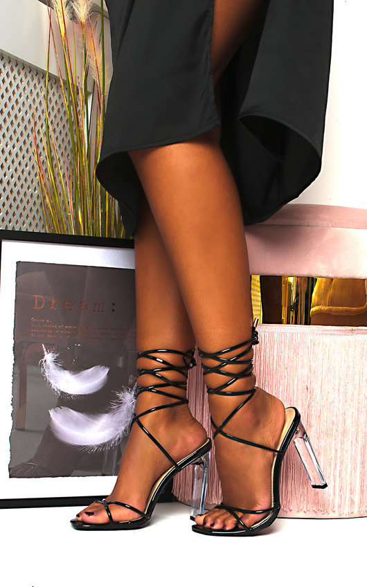 Misty Tie Up Perspex Heels