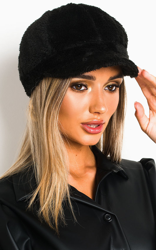 Miya Faux Fur Cap
