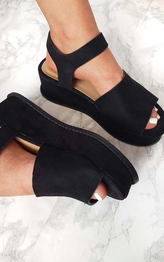 Miya Faux Suede Flatform  Heel